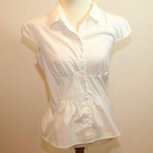 Prada White Short Sleeve Buttondown shirt Sz 46